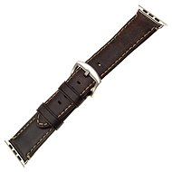 FIXED Berkeley for Apple Watch, 42mm and 44mm, with Silver Buckle, Charcoal Brown - Watch band