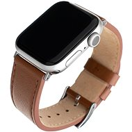 FIXED Leather Strap for Apple Watch 42/44/45mm, Brown