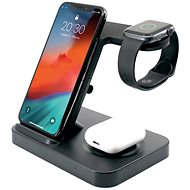 FIXED Powerstation for 3 devices black - Wireless Charger