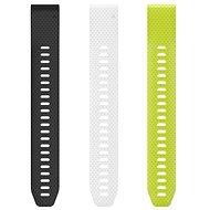Garmin QuickFit 20, Long, Black, White, Yellow (Without Buckle) - Watch band