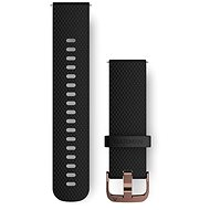Watch band Garmin Quick Release (20mm) Black - Rose Gold - Řemínek