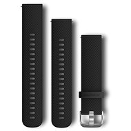 Garmin Quick Release 20 Silicone Black (silver buckle) - Watch band