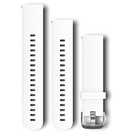 Garmin Quick Release Band 20 Silicone White (Silver Buckle)