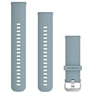 Watch band Garmin Quick Release Band 20 Silicone Grey (Silver Buckle) - Řemínek