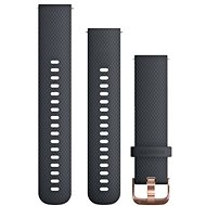 Garmin Quick Release 20, Silicone, Dark Blue, Rosegold Buckle - Watch band