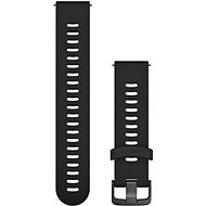 Watch band Garmin Quick Release 20 Silicone Black (Dark Buckle) - Řemínek