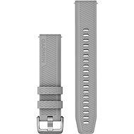 Garmin Quick Release 20 Silicone Grey (Silver Buckle) - Watch band