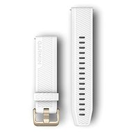 Garmin Quick Release 20 Silicone White (Gold Buckle)
