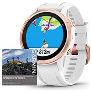 Garmin Fenix 6S Pro Glass, RoseGold/White Band (MAP/Music) - Smartwatch