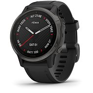 Garmin Fenix 6S Pro Glass, Black/Black Band (MAP/Music) - Smartwatch