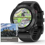 Garmin Fenix 6 Pro Glass, Black/Black Band (MAP/Music) - Smartwatch