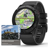 Garmin Fenix 6X Pro Glass, Black/Black Band (MAP/Music) - Smartwatch