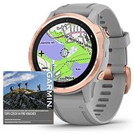 Garmin Fenix 6S Pro Sapphire, RoseGold/Grey Band (MAP/Music) - Smartwatch