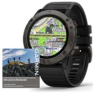 Garmin Fenix 6X Pro Sapphire, Grey DLC/Black Band (MAP/Music) - Smartwatch
