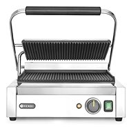 HENDI Contact Grill Panini, Ribbed on Both Sides 263655 - Electric Grill