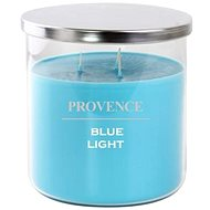Provence candle in glass with lid 1000g, blue light, 3knots - Candle