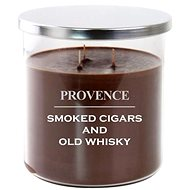 Provence candle in glass with lid 1000g, cigars / whiskey, 3knots - Candle