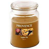 Provence Candle in glass with lid 510g, Apple strudel - Candle