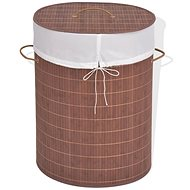 Bamboo laundry basket oval brown 245580 - Laundry Basket
