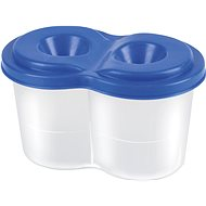 PANTA PLAST double brush holder with lid, mix of colours - Container