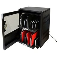 PORT CONNECT CHARGING CABINET, 20 UNITS, Black - Rechargeable Storage