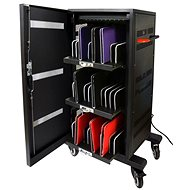 PORT CONNECT CHARGING CABINET, 30 UNITS, Black - Rechargeable Storage