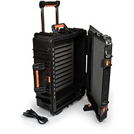PORT CONNECT Rolling CHARGING CABINET, charging carrying case on wheels for 12 devices, black - Rechargeable Storage