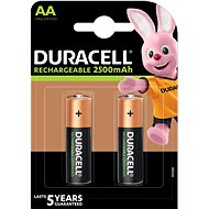 Duracell StayCharged AA - 2500 mAh 2 pc Battery - Rechargeable Battery