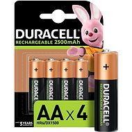 Duracell StayCharged AA - 2500 mAh 4 pack - Rechargeable Battery