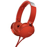 Sony MDR-XB550AP red - Headphones with Mic