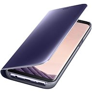 Samsung EF-ZG955C Clear View Standing Cover for Galaxy S8+ purple - Mobile Phone Case