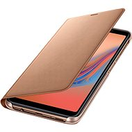 Samsung Galaxy A7 2018 Flip Wallet Cover Gold