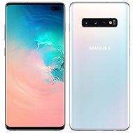Samsung Galaxy S10 + Dual SIM 128GB White + Protective Glass - Mobile Phone