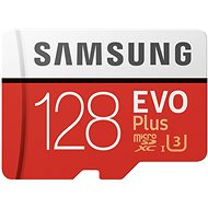 Samsung MicroSDXC 128GB EVO Plus UHS-I U3 + SD Adapter - Memory Card