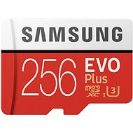Samsung MicroSDXC 256GB EVO Plus UHS-I U3 + SD Adapter - Memory Card