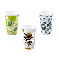 Branq Plastic Cup with Print, 3 pcs - Container