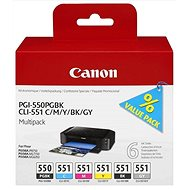 Canon PGI-550/CLI-551 PGBK/C/M/Y/BK/GY Multi Pack - Cartridge
