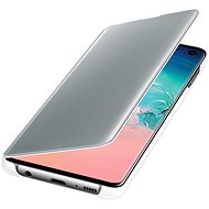 Samsung Galaxy S10 Clear View Cover White - Mobile Phone Case