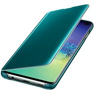 Samsung Galaxy S10 Clear View Cover Green - Mobile Phone Case