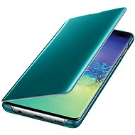Samsung Galaxy S10 + Clear View Cover Green - Mobile Phone Case