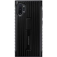 Samsung Hardened Protective Back Case with Stand for Galaxy Note10+ bBlack - Mobile Case