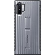 Samsung Hardened Protective Back Case with Stand for Galaxy Note10+ silver - Mobile Case