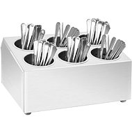 Cutlery rack 6 baskets square stainless steel