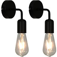 Wall Lights 2 pcs with Incandescent Bulbs 2 W Black E27 - Wall Lamp