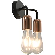 Wall Light with Incandescent Bulbs 2 W Black and Copper E27 - Wall Lamp