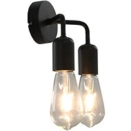 Wall Light with Incandescent Bulbs 2 W Black E27 - Wall Lamp