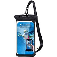 "Seaflash Waterproof TPU Case for Smartphones up to 6.5"", Black - Mobile Phone Case"