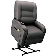 SHUMEE Electric massage lift reclining chair grey artificial leather 249915
