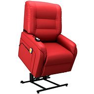 SHUMEE Electric Massage Lift Reclining Chair Red Faux Leather 249919