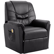 SHUMEE Adjustable massage chair grey artificial leather 248982 - Massage Chair